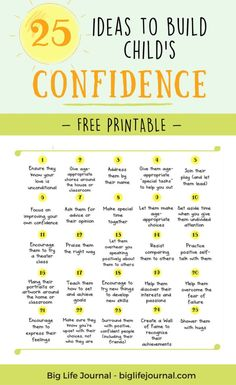 25 Things You Can Do Right Now To Build Child's Confidence – Big Life Journal