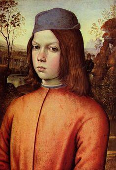 Pintoricchio, ritratto di giovane, olio su tela.