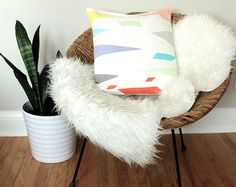 Your place to buy and sell all things handmade Bright Pillows, Triangle Print, Sewing Pillows, Geometric Pillow, Happy Colors, Kids Decor, Nursery Decor, Bean Bag Chair, Pillow Covers