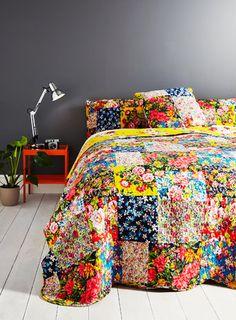 Multi Columbia Patch Bedspread