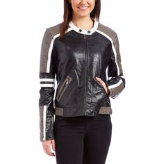 ca8d73eae95 Ashley Stewart Perforated Zip Front Moto Jacket ( 37) ❤ liked on Poly…