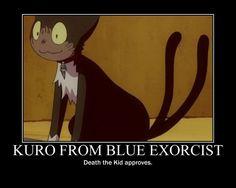 funny blue exorcist | Kuro from Blue Exorcist by Pferdekopf