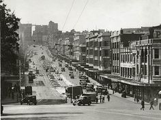 William Street, 1930's Sydney by State Records NSW, via Flickr