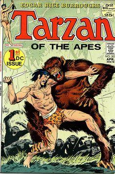 Joe Kubert's adaptation of Edgar Rice Burrough's Tarzan is quite faithful to the original story. Kubert's art, though, is superb and makes a contribution to the Tarzan mythos.  April 1972 Origins of the Ape-Man