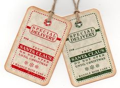 Santa Delivery Gift Tags