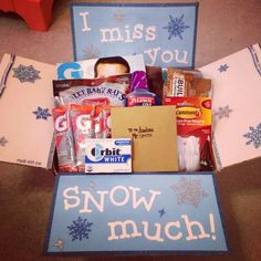 """I miss you SNOW much!"" deployment care package RLC"