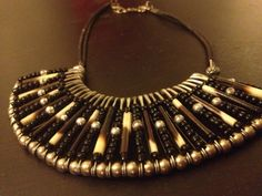 seed bead and safety pin collar