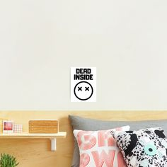 'Dead Inside' Photographic Print by RIVEofficial Dead Inside, Depressed, Badass, Custom Design, Finding Yourself, Trends, Tags, Funny, Party