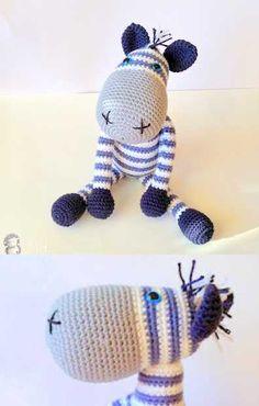 Free Crochet Pattern Zebra Amigurumi