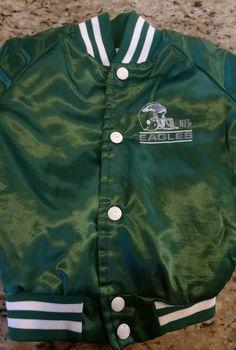 Philadelphia Eagles NFL green childs jacket size 3 1990 VINTAGE lightweight #ChalkLine #PhiladelphiaEagles