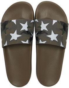 97b15899a55e Camustars Print Rubber Slide Sandals