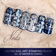 "Gefällt 339 Mal, 6 Kommentare - Moyra Nail Polish and Stamping (@moyra_nailpolish_and_stamping) auf Instagram: ""Coming soon! New Moyra Stamping Plate No. 36 Winter is coming #moyra #nailart #stamping #plate…"""