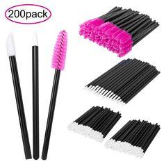 cdc669c9fa3 200 Pieces Disposable Lip Brushes Eyeliner Brushes Eyelash Mascara Brushes  Makeup Tool Kits. 100%