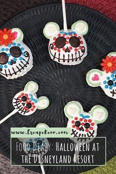 Disneyland offers tons of Halloween themed treats and desserts, including these adorable Mickey Day-of-the-Dead Cake Pops! Check out some of the treats I had at Disneyland during their Halloween season!