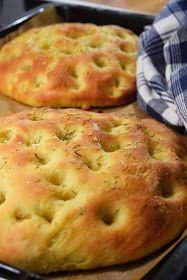 Smaskelismaskens: Focaccia Brunch Recipes, Bread Recipes, Cooking Recipes, Cooking Bread, Bread Baking, Pizza Pastry, Bread Bun, Swedish Recipes, Empanadas