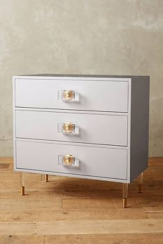Lacquered Regency Three-Drawer Dresser