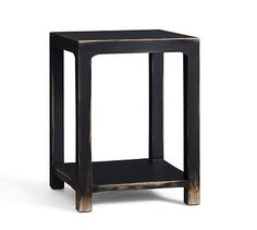 "27"" high by 20""sq Helena Side Table #potterybarn"