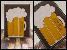 Geburtstagskarte - Karte - Kartenbastelei - basteln - Stampin' Up - Männerkarte - Bierkarte - Bier