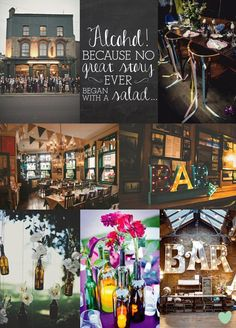 #Pub Inspired #Wedding Ideas Mood  from The Wedding Community