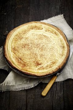 Old Fashioned Milk Tart. Happy National Milk Tart day!