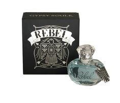Gypsy Soule Fragrance Perfume Womens Stylish Rebel Bird 50ml GSF1414. Gypsy Soule Rebel Fragrance Black Women's 2.2 oz spray fragrance Musk scent Due to the contents of this product this item is only available via Ground Shipping. Alcohol Fragrance PPG-15 Stearyl Ether Benzophenone-1 Benzophenone-3 Rosmarinic Acid Phytic Acid FD&C Blue No. 1.