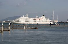 Malaysia - Penang Island. The luxury cruise ship Seabourn Spirit.