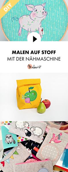 Malen mit der Nähmaschine lernen - Schritt für Schritt erklärt im Video-Kurs via Makerist.de