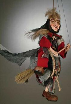 Witch marionette