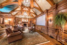 Media room in luxury home