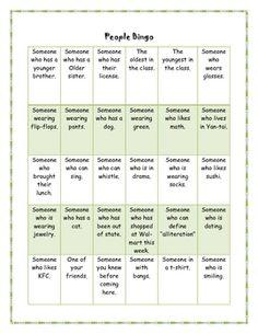 seek and find bingo ice breaker group team building activities leadership activities therapy