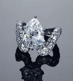 A unique 5.08-carat D, flawless diamond ring, by JAR  Jewels du Jour