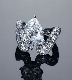 A unique 5.08-carat D, flawless diamond ring, by JAR  Jewels du Jour