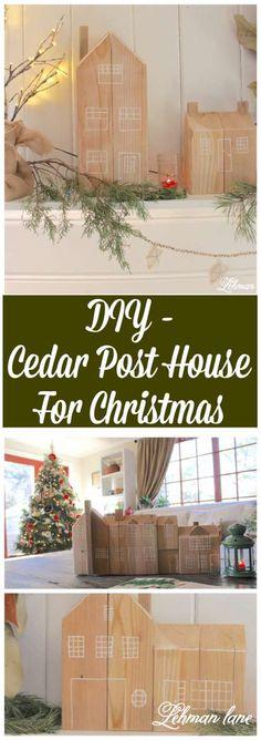 Come check out the cedar post house I made for Christmas!