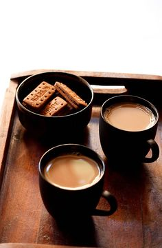 Indian Ginger Tea recipe. You'll Need: water, black tea, ginger, cardamon, milk, and sugar.