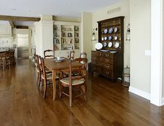 White Oak Floors - Live Sawn - traditional - wood flooring - other metro - by Allegheny Mountain Hardwood Flooring Plank Flooring, Kitchen Flooring, Kitchen Dining, Hardwood Floors, Dining Room, White Oak Floors, Real Wood, House Design, Interior Design