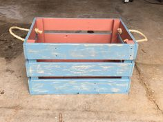 "Rustic crate for storage. Handcrafted with repurposed pallet wood. Many purposes. 21"" X 16"" X 12"""