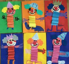 Kunst Grundschule - Sempre criança: www. Kids Crafts, Clown Crafts, Circus Crafts, Carnival Crafts, Summer Crafts, Preschool Crafts, Easy Crafts, Diy And Crafts, Paper Crafts