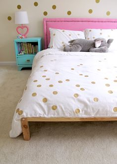 Easy Painted Dot Duvet DIY
