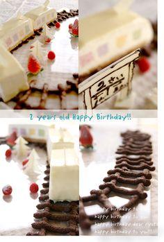 2歳のお誕生日パーティーアイデア☆電車が大好きな男の子には、電車ケーキ!