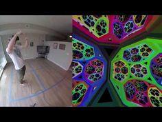 Non-euclidean virtual reality - YouTube
