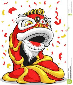 Chinese New Year Lion. A vector image of a chinese new years lion dance. Drawn i , Chinese New Year Greeting, New Year Greetings, Happy Chinese New Year, Chinese Boy, Chines New Year, Chinese New Year Dragon, Dancing Drawings, Lion Dance, China
