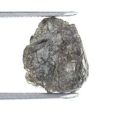 2.64 Ct African Natural Loose Diamond Rough Uncut Shape Grayish Color