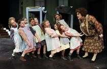 """Spokane Civic Theatre's production of """"Annie"""" features Phedre Burney-Quimby as Miss Hannigan."""