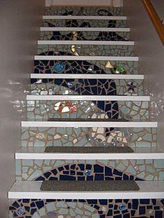 Nate Berkus: Mosaic Ocean Stairs