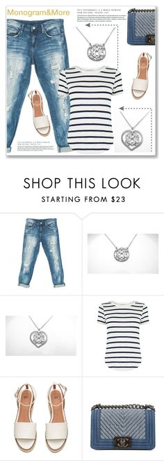 """""""Monogram & More 3/I"""" by amra-mak ❤ liked on Polyvore featuring Sans Souci, Oasis, Chanel and monogram"""