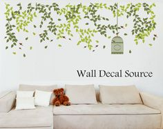 Hey, I found this really awesome Etsy listing at https://www.etsy.com/listing/156555042/hanging-vines-wall-decal-bird-cage-vinyl