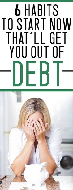 Habits to Get You Out of Debt struggling to get out of debt? get these things under control and stop the debt cycle!struggling to get out of debt? get these things under control and stop the debt cycle! Ways To Save Money, Money Tips, Money Saving Tips, Money Hacks, Life On A Budget, Paying Off Credit Cards, Financial Tips, Financial Planning, Financial Peace