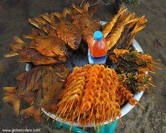 Fishy but fresh snacks along Setse Beach, south of Mawlamyaing, MYANMAR