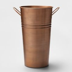 x Metal Bucket Planter Copper - Smith & Hawken, Brown Metal Planters, Large Planters, Watering Can, Moscow Mule Mugs, Modern Design, Bucket, Copper, Brown, Target
