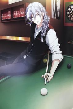 Anime Guys Nightclub AU where BJ is the regular who plays darts alone in the corner all night and Kiriko is this fjckin goth pool shark right here Manga Boy, Anime Boys, Chica Anime Manga, Hot Anime Boy, Cute Anime Guys, Anime Kawaii, Badass Anime, Anime Sensual, Cosplay Anime